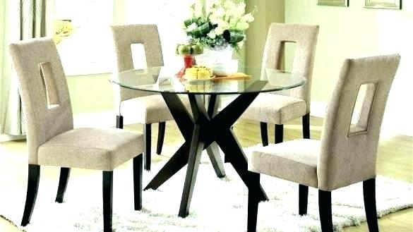 Drop Dead Gorgeous Round Dining Table And 4 Chairs Small Set Glass Regarding Round Black Glass Dining Tables And 4 Chairs (View 20 of 25)