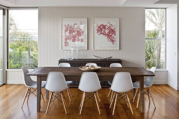 Dsw Eames Plastic Side Chair | Side Chair, Room And Elegant Dining Room For Weaver Dark 7 Piece Dining Sets With Alexa White Side Chairs (Image 7 of 25)