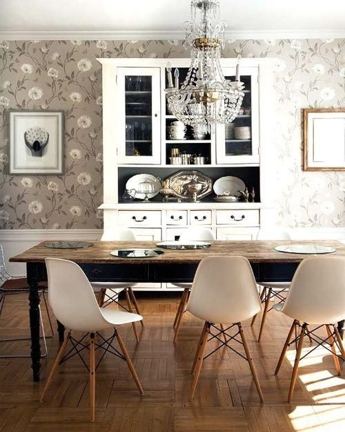 Dsw Eames Plastic Side Chair | Side Chair, Room And Elegant Dining Room Within Weaver Dark 7 Piece Dining Sets With Alexa White Side Chairs (Image 8 of 25)