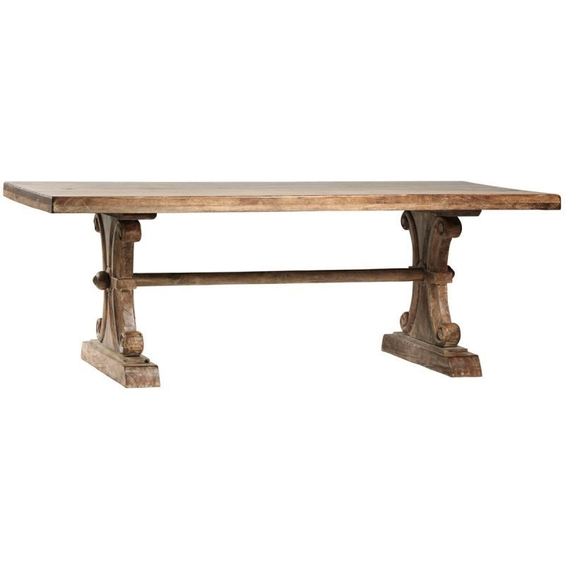 Dt Dov2806Lt   Dovetail Roma Dining Table In Sienna Finish Within Roma Dining Tables (Image 4 of 25)
