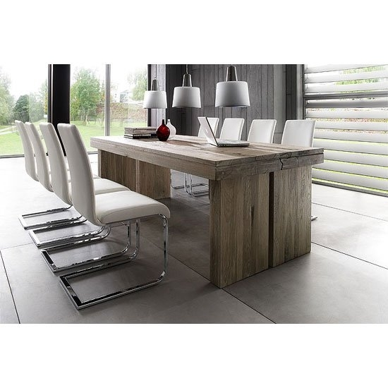 Dublin 8 Seater Dining Table In 220Cm With Lotte Dining Pertaining To 8 Seater Dining Tables (Image 18 of 25)