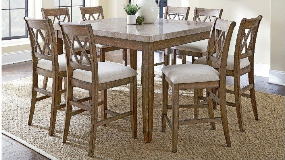 Dunedin 9 Piece High Dining Suite – Dining Furniture – Dining Room Throughout Caira 7 Piece Rectangular Dining Sets With Upholstered Side Chairs (View 5 of 25)