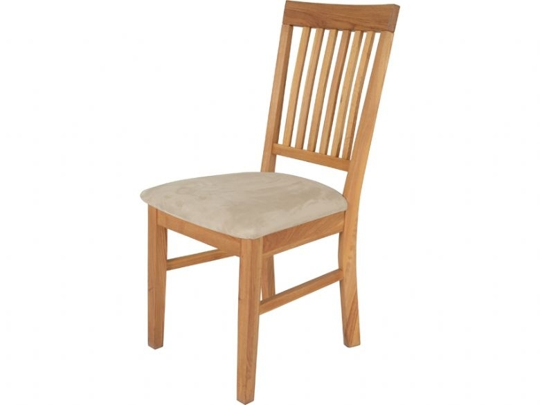 Durham Oak Dining Chair With Fabric Seat – Furniture Barn Inside Oak Dining Chairs (Image 9 of 25)