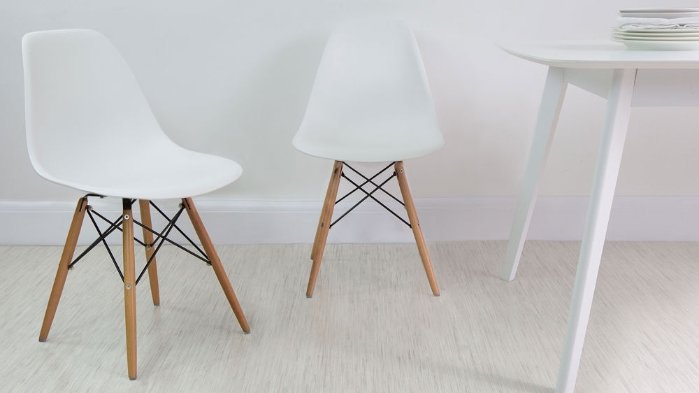 Eames Dining Chair High Quality Uk Fast Delivery Inside White Dining Chairs (View 4 of 25)