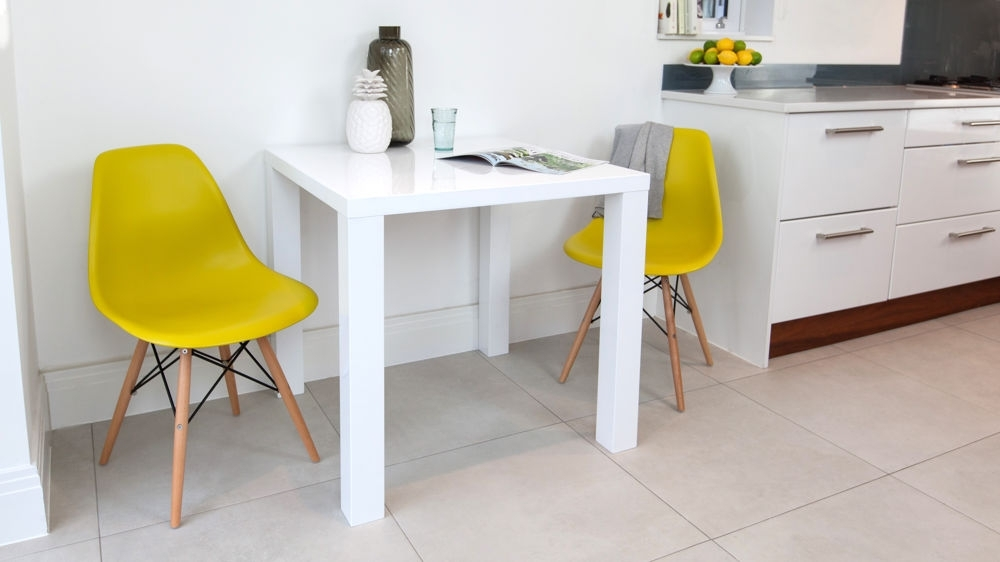 Eames Dining Set | Eames Replica | White Gloss Kitchen Table Within Small 4 Seater Dining Tables (Photo 19 of 25)