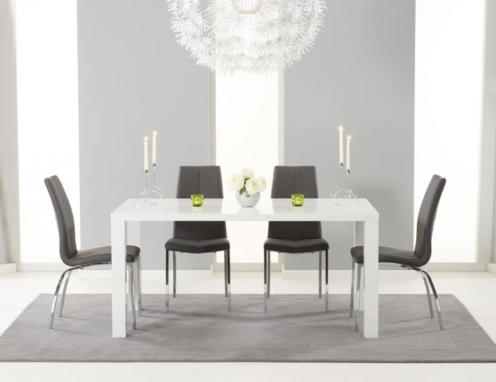 Earlham Large White High Gloss Dining Set – Frances Hunt Within White High Gloss Dining Chairs (Image 5 of 25)