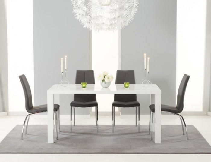 Earlham Large White High Gloss Dining Set – Frances Hunt Within White High Gloss Dining Chairs (Photo 15 of 25)