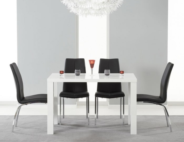 Earlham Medium White High Gloss Dining Set – Frances Hunt For White High Gloss Dining Tables And Chairs (Photo 9 of 25)