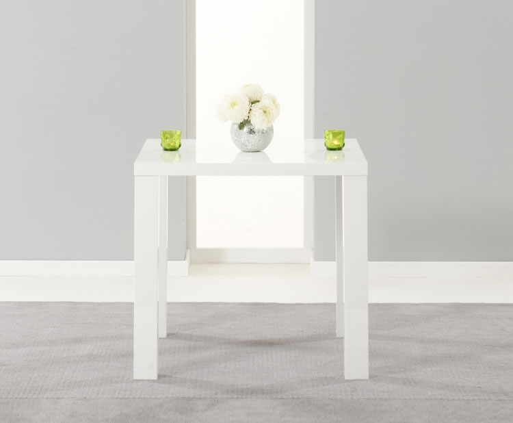 Earlham Small White High Gloss Dining Table - Frances Hunt pertaining to Small White Dining Tables