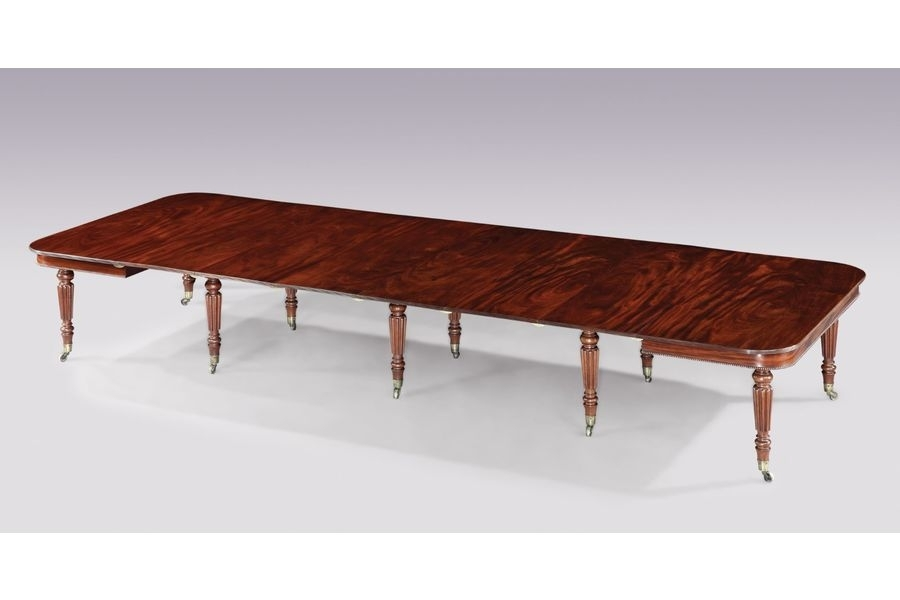 "Early 19Th Century Regency Period Figured Mahogany, ""imperial regarding Imperial Dining Tables"