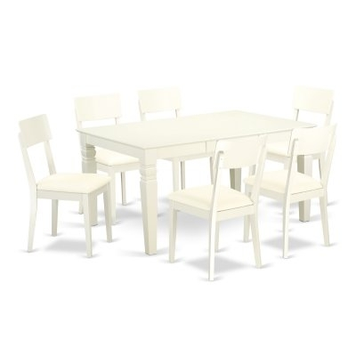 East West Furniture Weston 7 Piece Extending Dining Table Set With For Craftsman 7 Piece Rectangle Extension Dining Sets With Side Chairs (View 18 of 25)