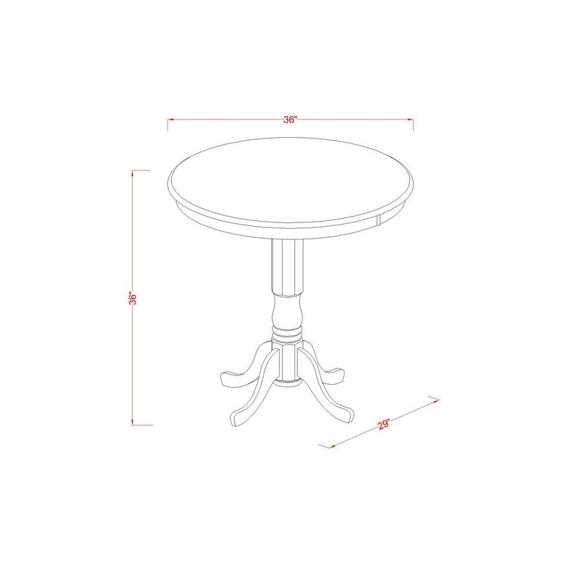 East West Jackson 5 Piece Counter Height Pub Table Set | Wayfair With Regard To Jaxon Grey 5 Piece Extension Counter Sets With Fabric Stools (View 16 of 25)