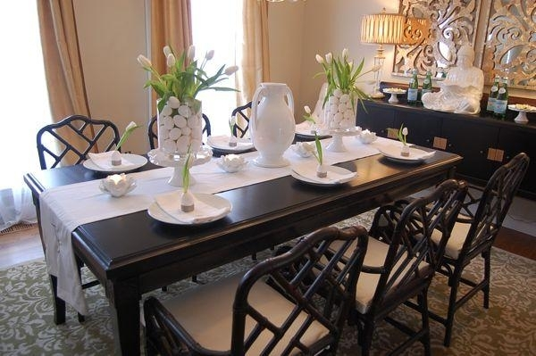 Easter Table Setting Ideas – Asian – Dining Room – Benjamin Moore Throughout Asian Dining Tables (View 10 of 25)