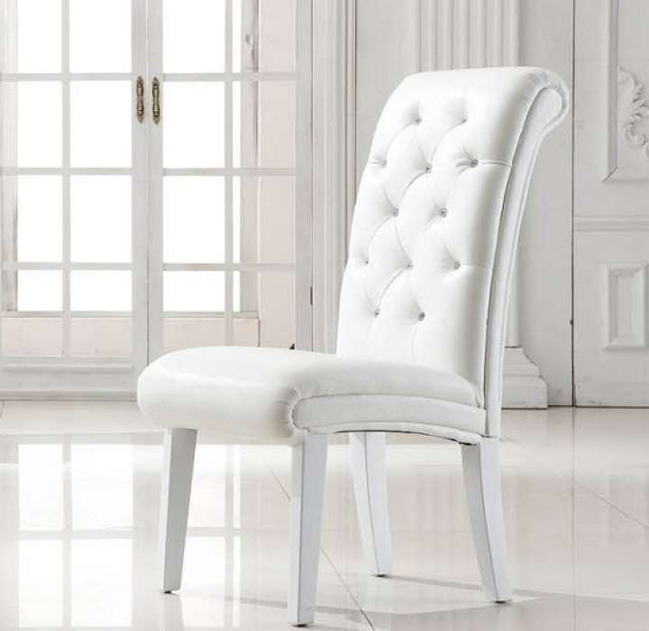 Easy White Leather Dining Chairs : Tips For Reupholstering Leather With White Leather Dining Chairs (Image 5 of 25)