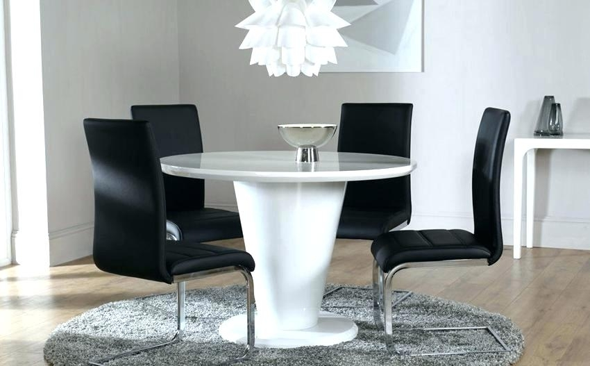 Ebay Uk White Gloss Dining Table Ikea And Chairs Breathtaking Fern With Regard To Round High Gloss Dining Tables (Image 12 of 25)
