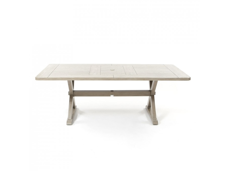 """Ebel Portofino 42"""" X 84"""" Rectangular Dining Table – Weathered In Laurent Rectangle Dining Tables (Image 9 of 25)"""