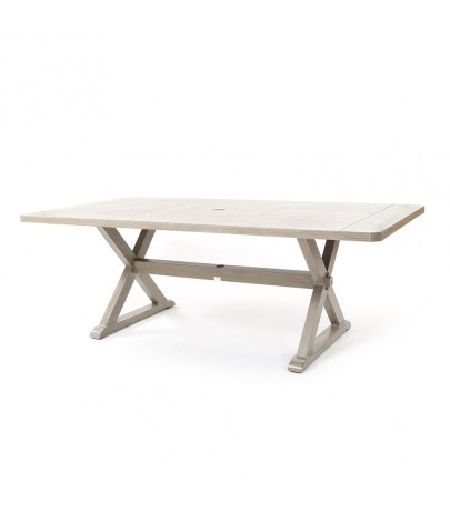 "Ebel Portofino 42"" X 84"" Rectangular Dining Table – Weathered Intended For Laurent Rectangle Dining Tables (Image 10 of 25)"