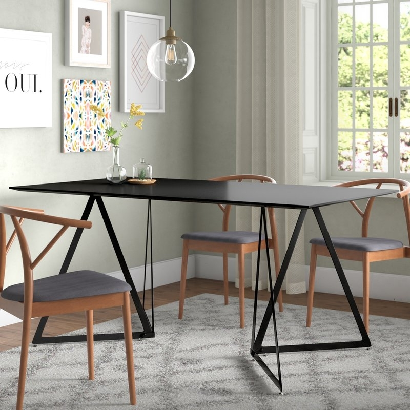 Ebern Designs Ravsten Contemporary Dining Table | Wayfair Throughout Cheap Contemporary Dining Tables (View 19 of 25)