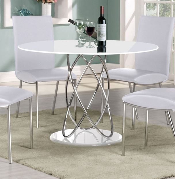 Eclipse 115 Cm Round White High Gloss Dining Table With Regard To Round High Gloss Dining Tables (View 2 of 25)