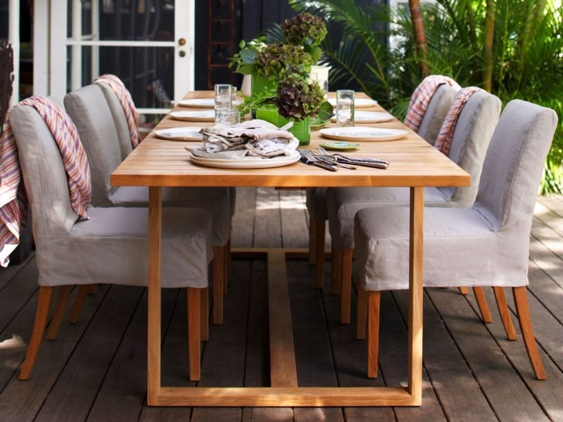 Eco Outdoor Bremer Extending Dining Table With Amos Dining Chairs In For Amos Extension Dining Tables (Image 9 of 25)