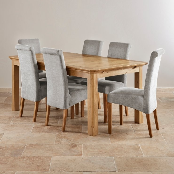 Edinburgh Extending Dining Set In Oak: Dining Table 6 Chairs, Oak Regarding Oak Dining Set 6 Chairs (Photo 12 of 25)