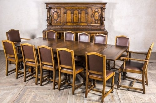 Edwardian Oak Dining Set Sideboard Extending Table – Antiques Atlas Inside Oak Dining Sets (View 15 of 25)