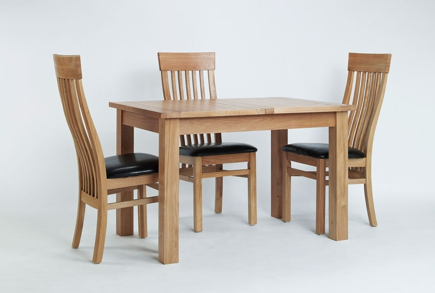 Elegant Oak Small Extending Dining Table Hampshire Furniture Small Throughout Small Extendable Dining Table Sets (Photo 16 of 25)