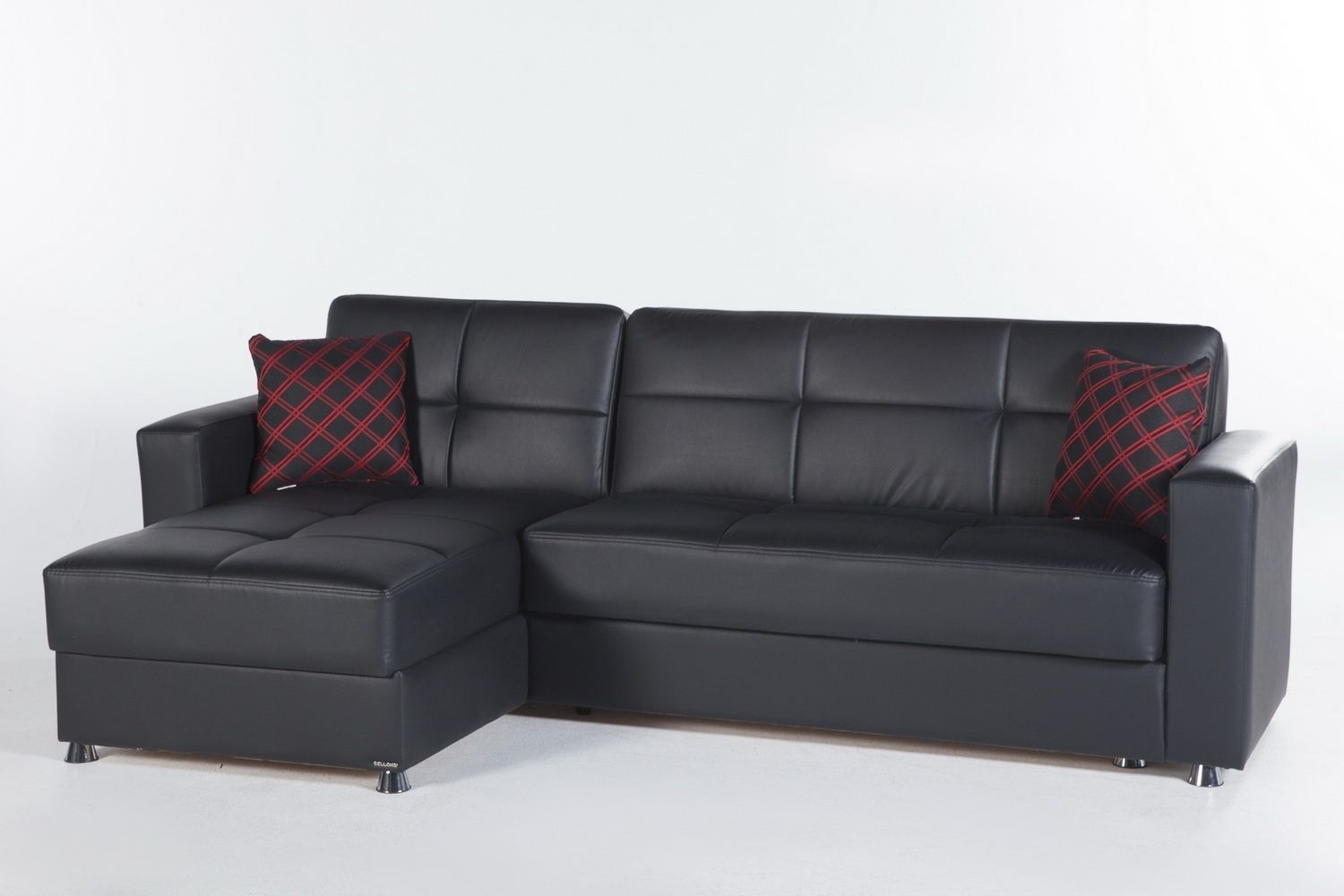 Elegant Sectional Sofa In Santa Glory Blackistikbal | Sectional Within Mcculla Sofa Sectionals With Reversible Chaise (Image 8 of 25)