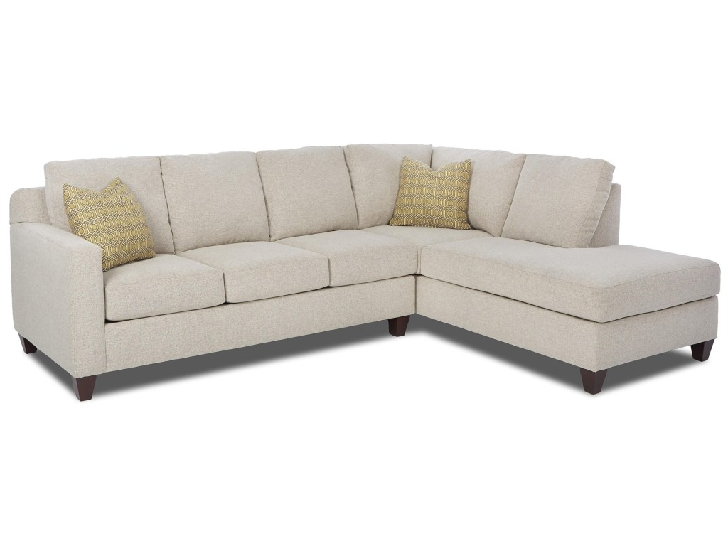 Elliston Place Bosco Contemporary Piece Sectional With Right Arm Regarding Delano 2 Piece Sectionals With Laf Oversized Chaise (Image 14 of 25)