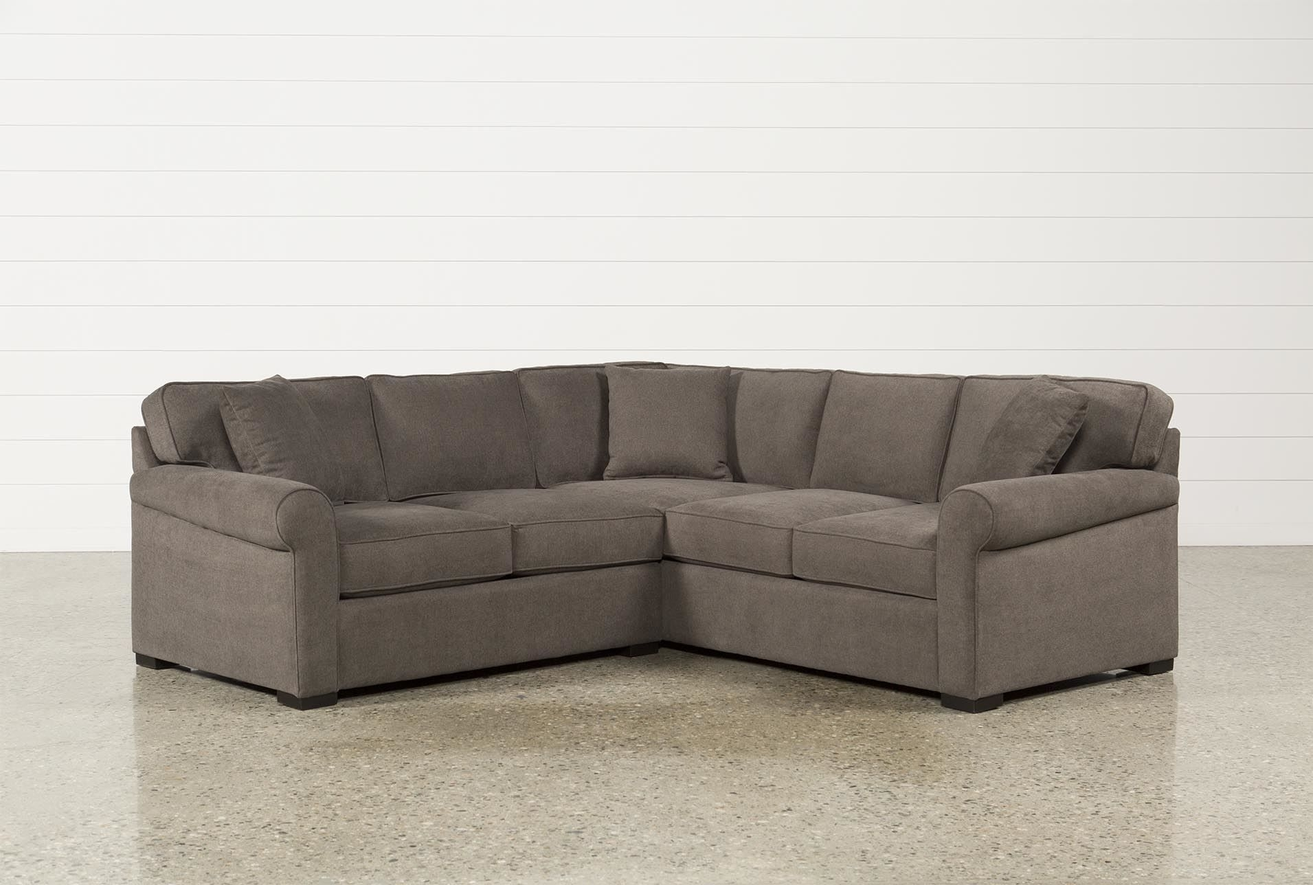 Elm Grande 2 Piece Sectional, Grey, Sofas | Pinterest | Living With Arrowmask 2 Piece Sectionals With Sleeper & Right Facing Chaise (Image 7 of 25)