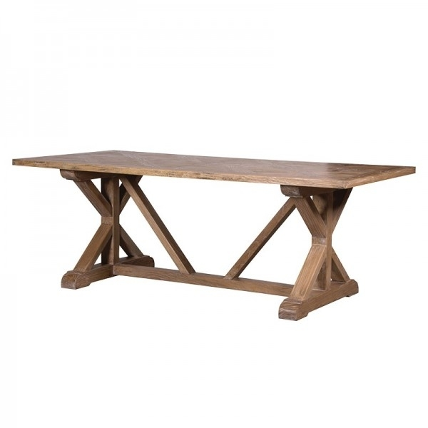 Elm Parquet Top Dining Table – Handmade Kitchens In Norwich, Norfolk With Parquet Dining Tables (Image 7 of 25)