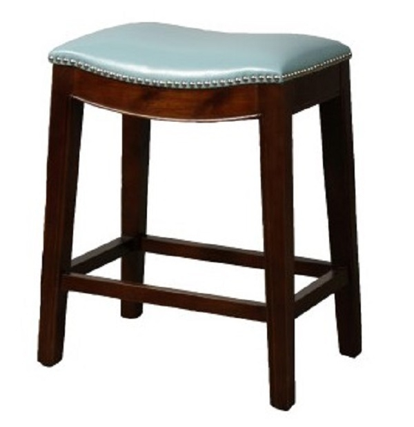 Elmo Bounded Leather Bar Stool with regard to Valencia 5 Piece Counter Sets With Counterstool