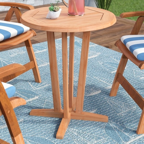 Elsmere Teak Dining Table | Wayfair For Outdoor Brasilia Teak High Dining Tables (View 17 of 25)