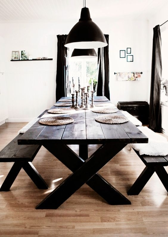 Embrace The Relaxed Style Of Indoor Picnic Tables | Kitchen & Dining throughout Indoor Picnic Style Dining Tables