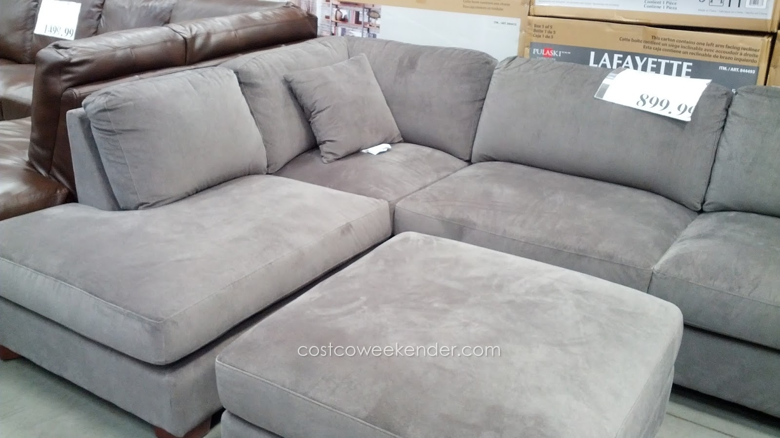Emerald Home Furnishings Bianca 3 Piece Sectional Set | Costco Weekender With Cohen Down 2 Piece Sectionals (Image 8 of 25)