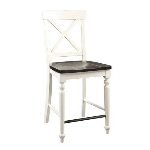 Emerald Home Furnishings Mountain Retreat X Back Barstool With Wood throughout Jaxon Grey 5 Piece Extension Counter Sets With Wood Stools