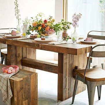 "Emmerson Dining Table, 72"", Reclaimed Pine At West Elm – Dining Inside Natural Wood & Recycled Elm 87 Inch Dining Tables (Image 7 of 25)"