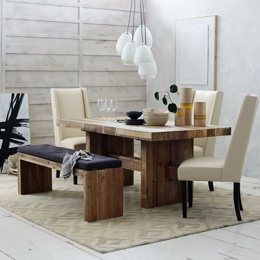 Featured Image of Natural Wood & Recycled Elm 87 Inch Dining Tables