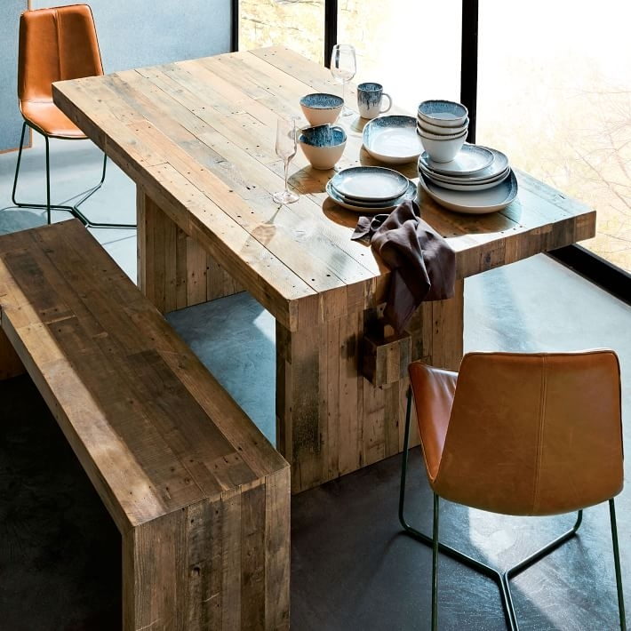 Emmerson® Reclaimed Wood Dining Table - Natural | West Elm in Wood Dining Tables