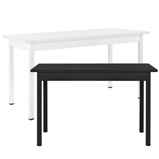 En.casa]® Dining Table – 120X60 Cm – Black Or White – Dining Tables Pertaining To Dining Tables 120X60 (Photo 5765 of 5778)