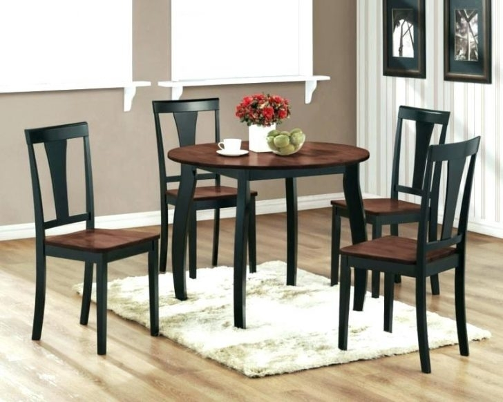 Enchanting Small Wood Dinette Sets Solid Dining Table Dark And With Small Dark Wood Dining Tables (Image 17 of 25)