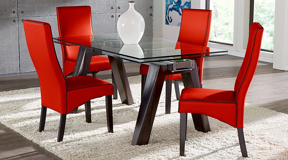 Encino Espresso 5 Pc Rectangular Dining Room – Dining Tables Ideas Regarding Lindy Espresso Rectangle Dining Tables (View 17 of 25)