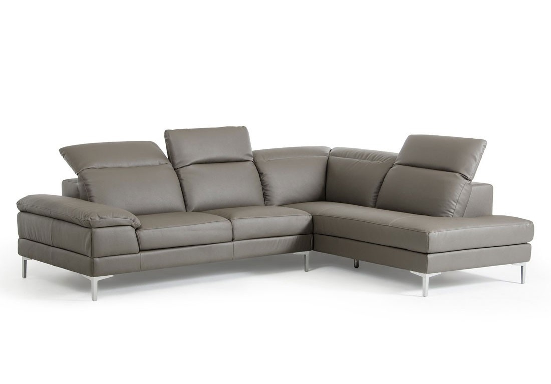 Endearing Kylah Grey Lear Sectional Kylah Grey Lear Sectional Inside Tenny Dark Grey 2 Piece Right Facing Chaise Sectionals With 2 Headrest (Image 11 of 25)