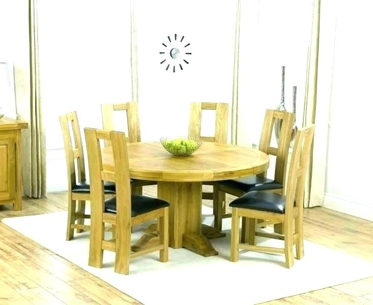 Engaging Oak Dining Table And Six Chairs Extending 4 Uk Limed Sets within Round Oak Dining Tables and Chairs