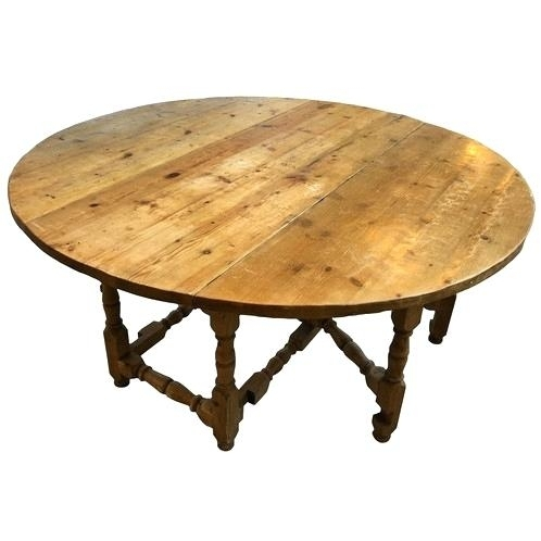 English Dining Table Pine Large Round Malaysia – Fondodepantalla Intended For Magnolia Home English Country Oval Dining Tables (Image 14 of 25)
