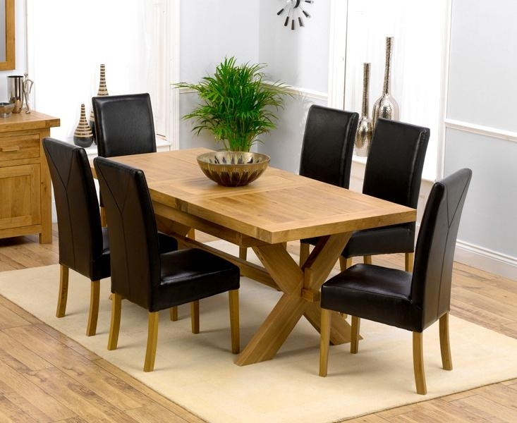 Enjoyable Oak Extending Dining Table Seater Ting Inspiration With Regard To Oak Extending Dining Tables And Chairs (Photo 7 of 25)