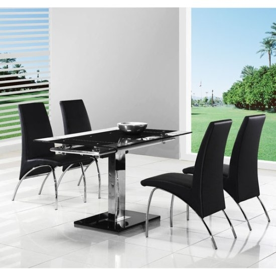 Enke Extendable Dining Table With 4 G614 Dining Chairs 5299 With Regard To Extendable Dining Tables And 4 Chairs (Image 7 of 25)