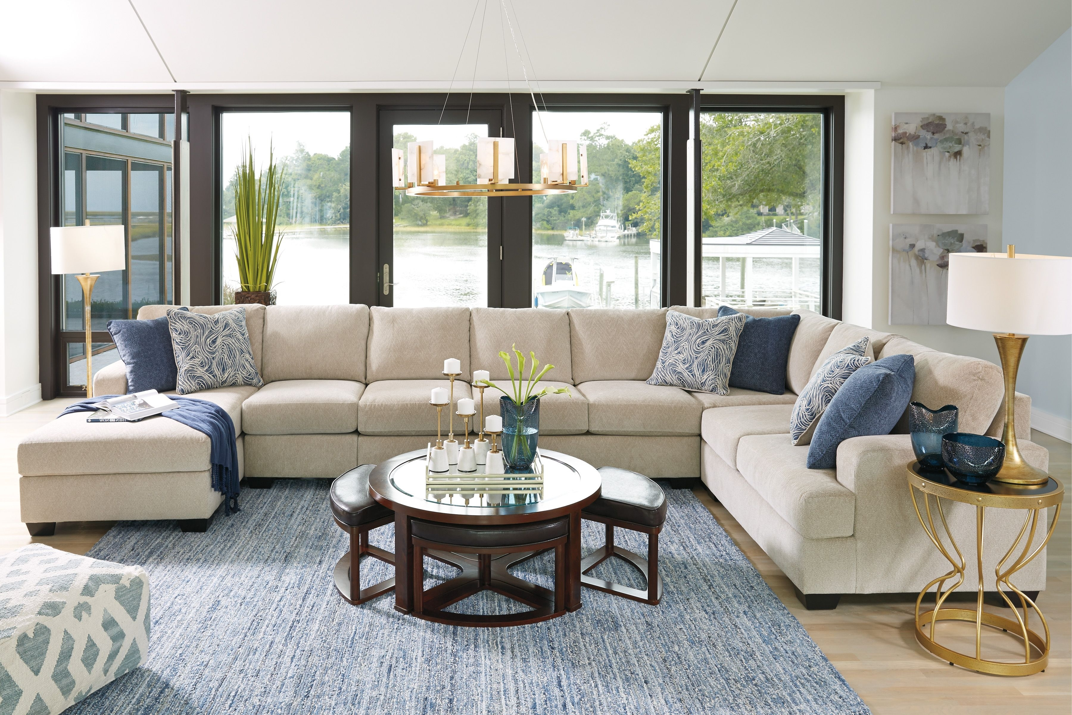 Enola 4 Piece Laf Sectional   Contemporary Living   Pinterest For Benton 4 Piece Sectionals (Image 11 of 25)