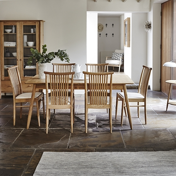 Ercol Teramo Small Extending Dining Table & 4 Kitchen Dining Chairs Inside Small Extending Dining Tables And Chairs (Photo 21 of 25)
