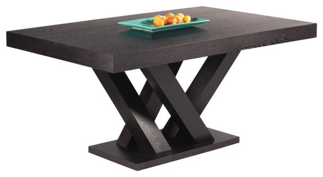 Espresso Rectangular Dining Table - Dining Table And Alarm Clock for Lindy Espresso Rectangle Dining Tables